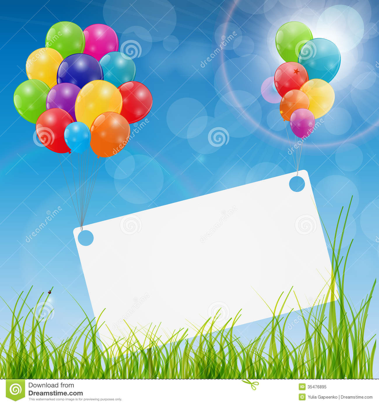 birthday greetings background image ; color-glossy-balloons-birthday-card-background-vector-illustration-35476895