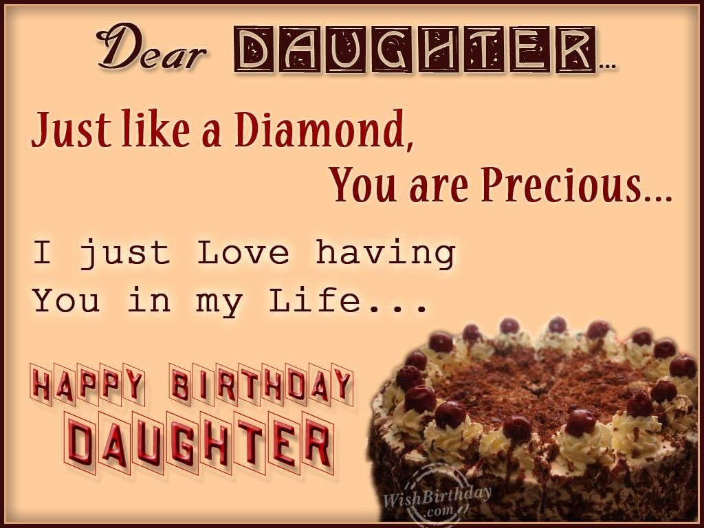 birthday greetings message for my daughter ; 1029