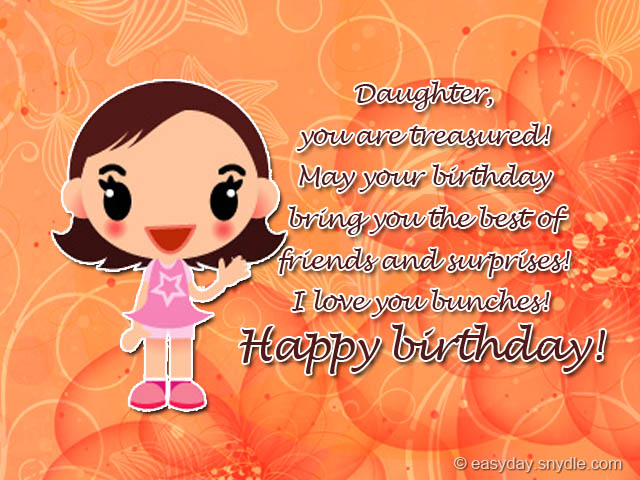 birthday greetings message for my daughter ; happy-birthday-daughter