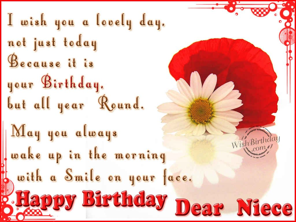 birthday greetings message to a niece ; 8a7f205418ae6c1c408b19ffb509671b
