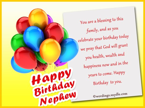 birthday greetings message to nephew ; 2113bc6c51f850048ad53497f275569d