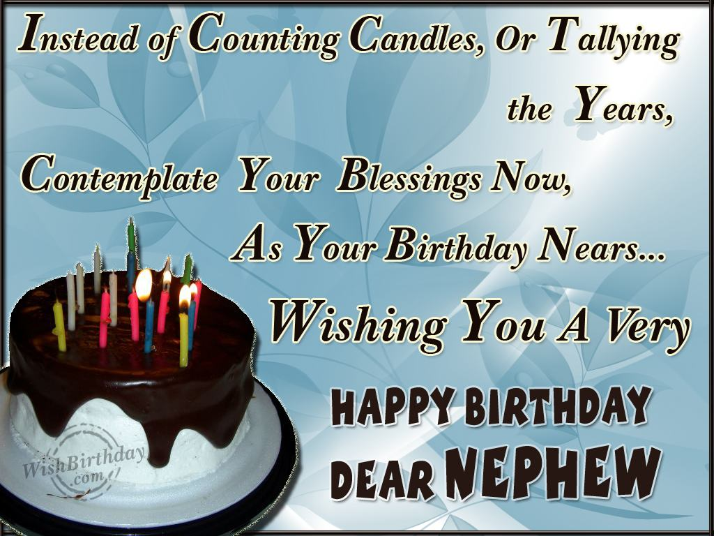 birthday greetings message to nephew ; ec45623d569156cb7ee8fc7f4ee4f815
