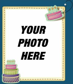birthday greetings with picture editing ; Postalcumple23
