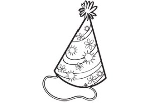 birthday hat coloring page ; Party%252BHat%252BColoring%252BPage
