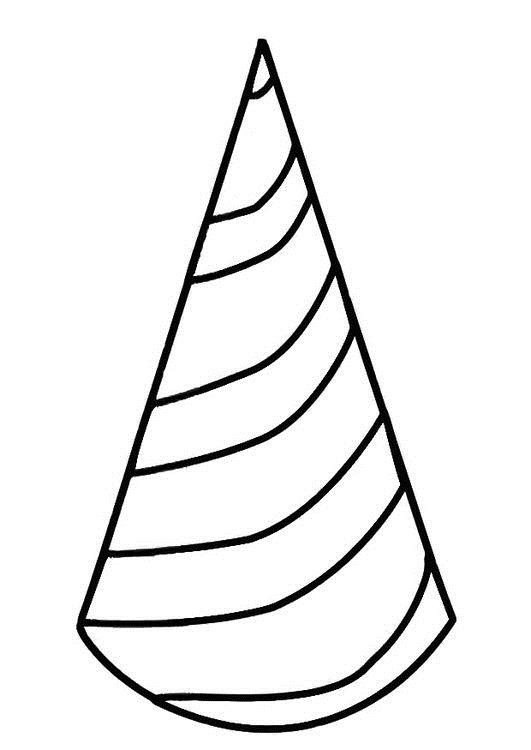 birthday hat coloring page ; coloring-page-birthday-hat-dm19411