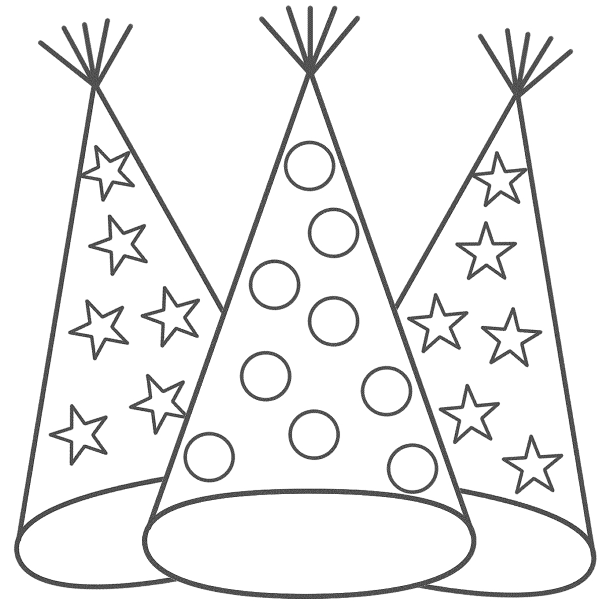 birthday hat coloring page ; happy-birthday-hats-coloring-sheets-1000-images-about-coloring-pages-on-pinterest-coloring-pumpkin