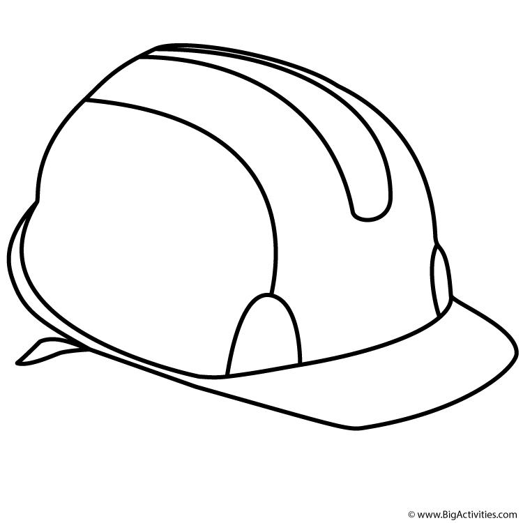 birthday hat coloring page ; hard_hat