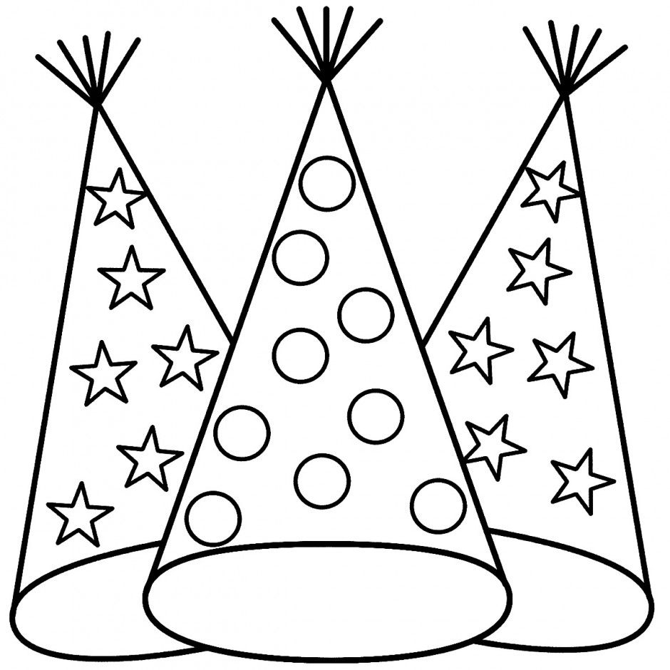 birthday hat coloring page ; hat-coloring-pages-printable-printable-birthday-hat-coloring-page-coloring-panda