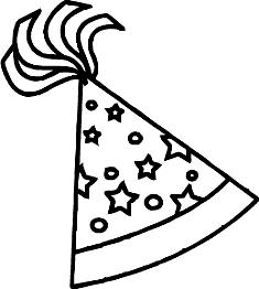 birthday hat drawing ; birthday-hat-clip-art-black-and-white-10