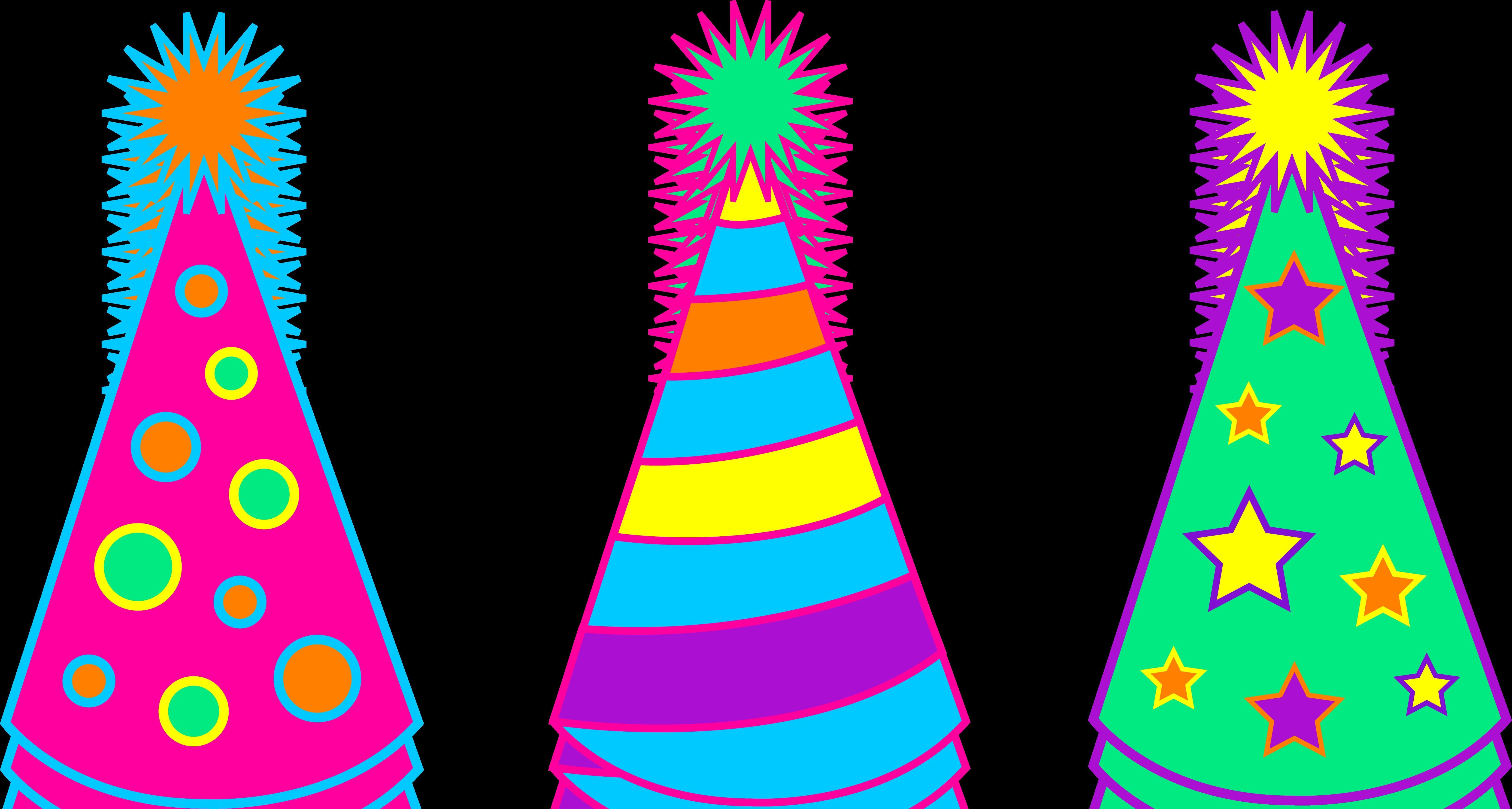 birthday hat drawing ; orange-clipart-party-hat-16