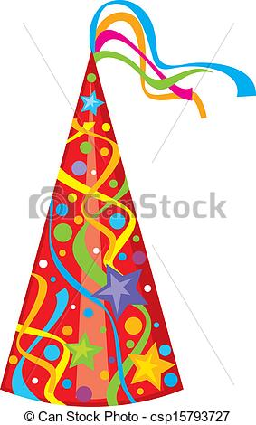birthday hat drawing ; party-hat-birthday-hat-illustration_csp15793727