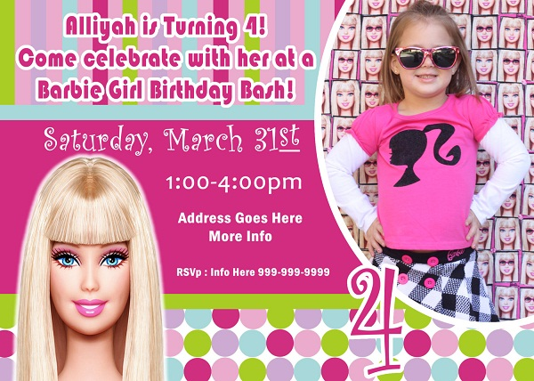 birthday invitation barbie theme ; 200855c6e208c1b5e288d4ac94e2e854
