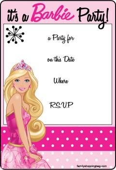 birthday invitation barbie theme ; 97c50f104de0227e4ece01bc5f5b2472