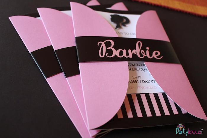 birthday invitation barbie theme ; Barbie-Fashion-Birthday-Party-via-Karas-Party-Ideas-KarasPartyIdeas