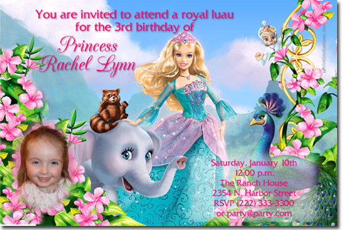 birthday invitation barbie theme ; barbie%2520island%2520princess
