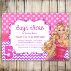 birthday invitation barbie theme ; barbie-birthday-invitations-With-a-modern-Birthday-design-ideas-16