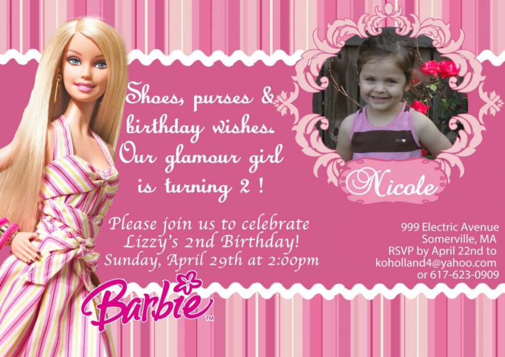 birthday invitation barbie theme ; barbiebirthdayinvitationbyasapinvitesonetsy12-00-barbie-birthday-invitation-cards-1024x724