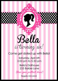birthday invitation barbie theme ; f0c4e42eb2afb0e540dd98708dc1acbc--barbie-theme-party-barbie-birthday-party