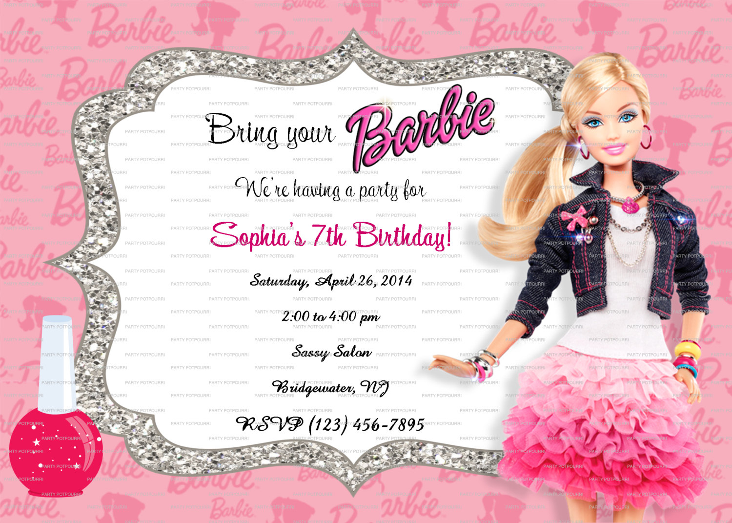 birthday invitation barbie theme ; tips-easy-to-create-barbie-birthday-invitations-prepossessing-layout-the-barbie-birthday-invitations-modern-designs-silverlininginvitations