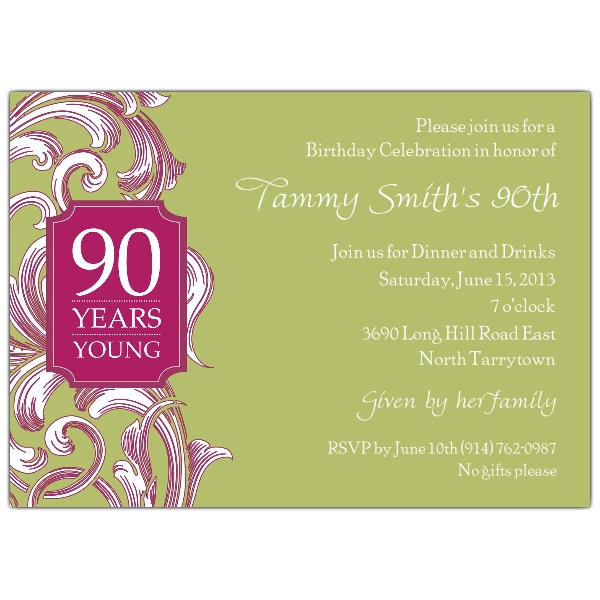 birthday invitation borders ; wording-for-90th-birthday-party-invitations-90th-birthday-border-scroll-moss-invitations-paperstyle-ideas