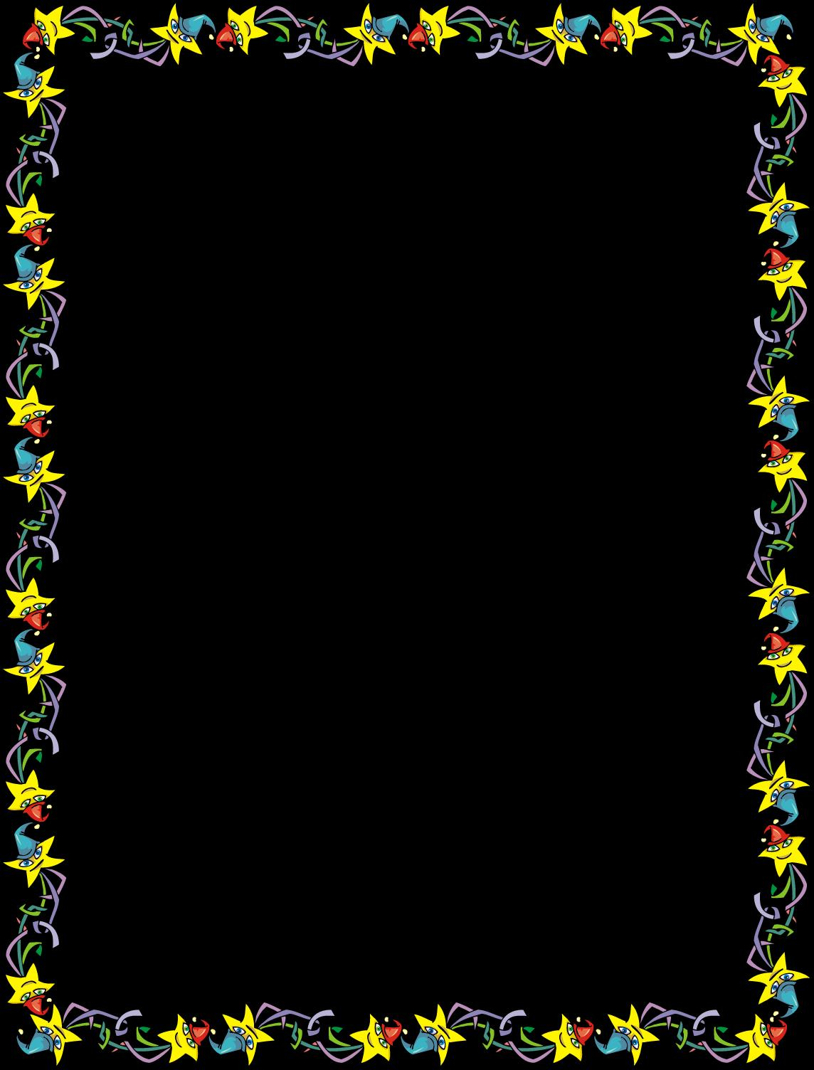 birthday invitation card borders ; 301-png_star-party-invitation-border-printable