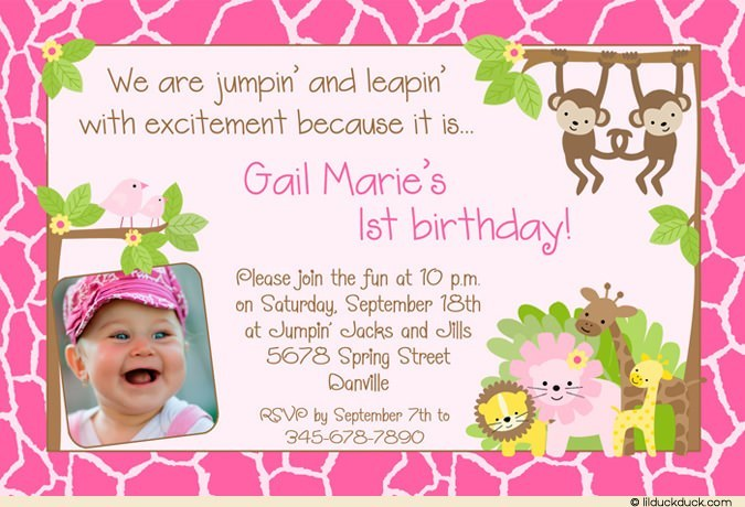 birthday invitation card borders ; Animal-print-Pink-Safari-Pink-border-Birthday-1-photo-invitation
