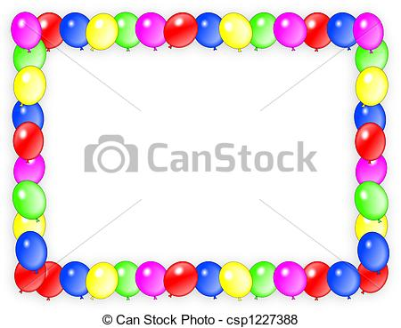 birthday invitation card borders ; birthday-invitation-balloons-frame-stock-illustration_csp1227388