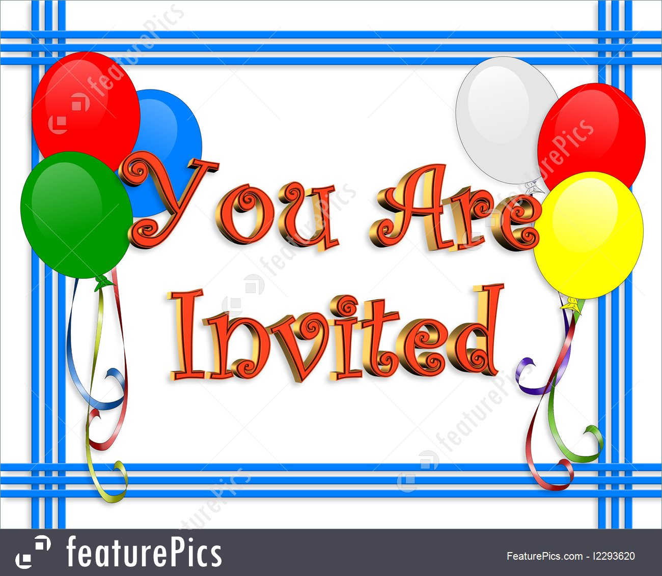 birthday invitation card borders ; birthday-party-invitation-stock-illustration-1293620