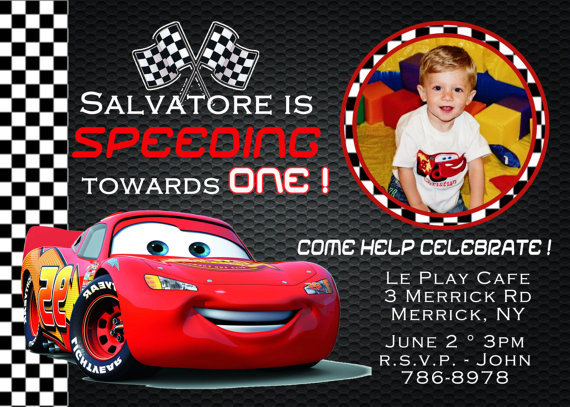 birthday invitation card car theme ; 0f4eb0993dad807580804451a95d04a5