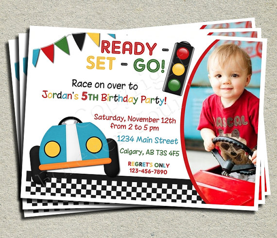birthday invitation card car theme ; 19d19123ced8a7c9f828abdcaee83ed2