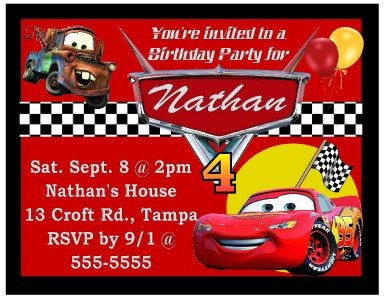 birthday invitation card car theme ; 588951774_tp