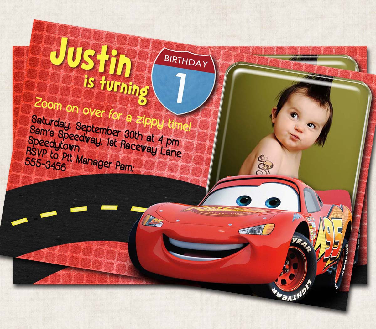 birthday invitation card car theme ; 60th_birthday_surprise_party_invitations_7-1