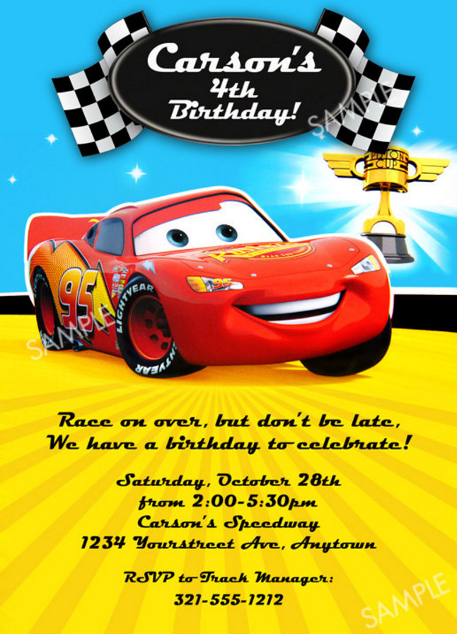 birthday invitation card car theme ; 8e5506ed30a1a363dc0078a37a9e0972