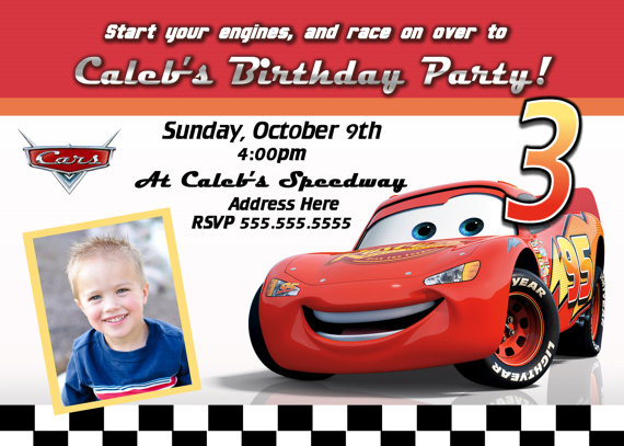 birthday invitation card car theme ; 985f794c8e4993e21f93c35ab04410cb