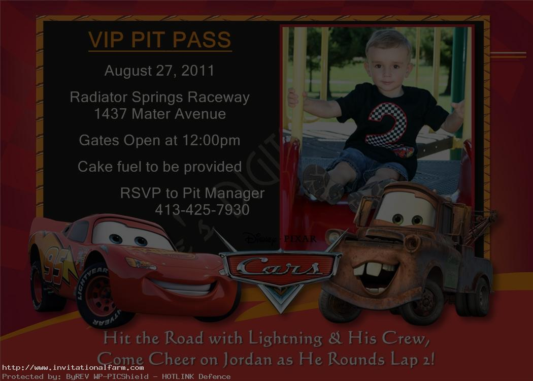 birthday invitation card car theme ; Cars-birthday-invitations-Card