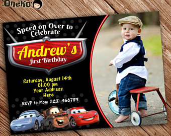 birthday invitation card car theme ; il_340x270