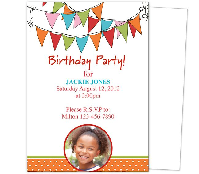 birthday invitation card design for kids ; childrens-birthday-invitations-specially-created-for-your-Birthday-Invitation-Cards-invitation-card-design-5