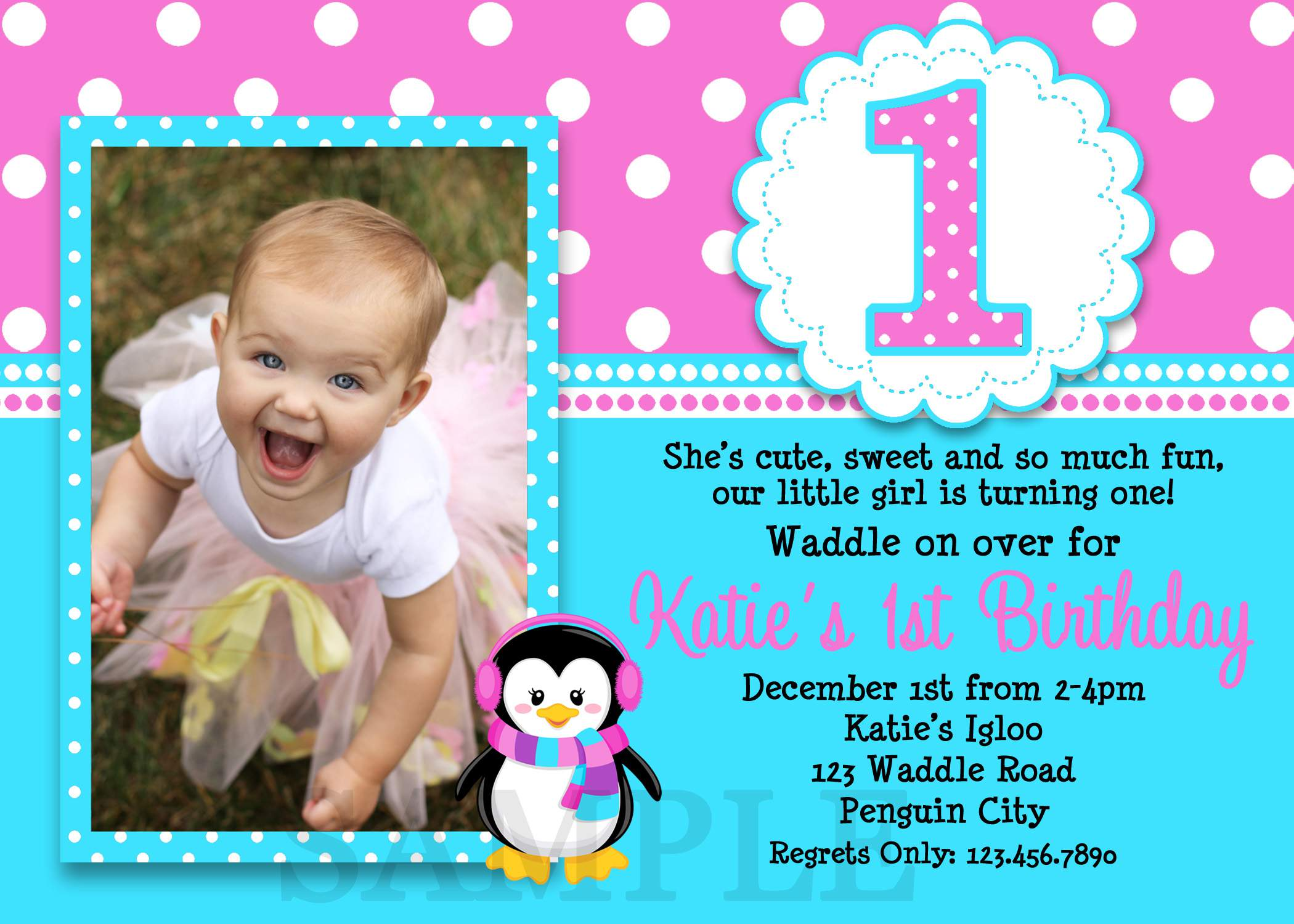 birthday invitation card design template free download ; Printed-First-Birthday-Invitations-Cards