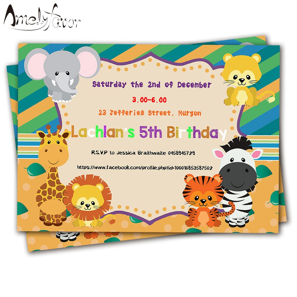 birthday invitation card themes ; invitation-card-of-birthday-inspirationalnew-20pcs-safari-animals-theme-invitations-card-birthday-party