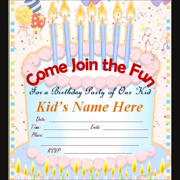 birthday invitation cards design templates ; awesome-maker-birthday-invitation-cards-online-blank-invited-designing-template-modern-ideas-cake-party-candle-picture