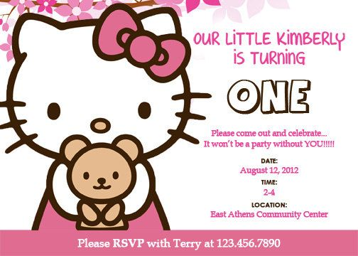 birthday invitation hello kitty theme ; 53786e87beadc177b12d7fc96e31ce43--custom-birthday-invitations-birthday-invitation-templates