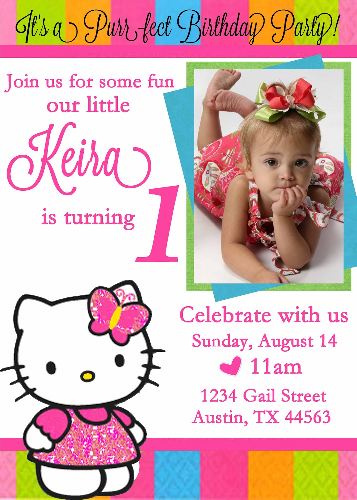 birthday invitation hello kitty theme ; make-custom-invitations-online-free-For-reizend-model-Custom-Invitations-design-invitation-with-an-attractive-12