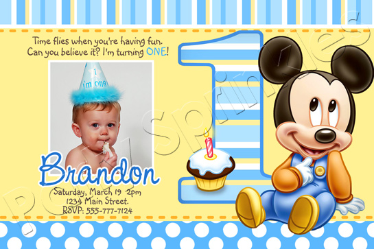 birthday invitation mickey mouse theme ; Mickey-Mouse-First-Birthday-Invitations-mixed-with-your-creativity-will-make-this-looks-awesome-1