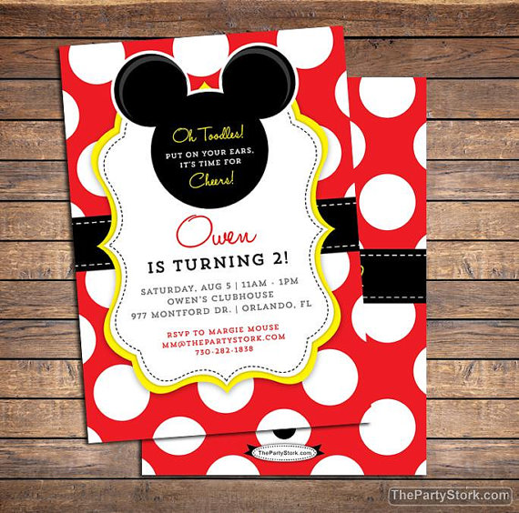 birthday invitation mickey mouse theme ; il_570xN