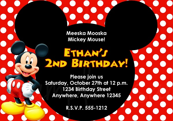 birthday invitation mickey mouse theme ; mickey-mouse-birthday-invitation