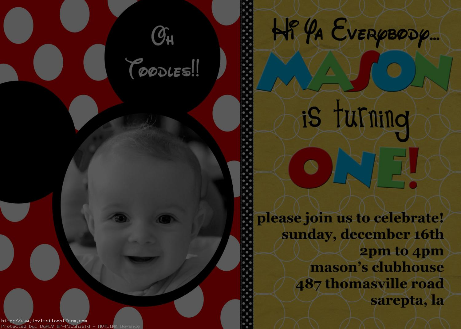 birthday invitation mickey mouse theme ; mickey-mouse-birthday-invitations-Card