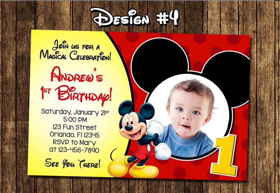 birthday invitation mickey mouse theme ; mickey-mouse-first-birthday-invitations-is-one-of-the-best-idea-to-create-your-Birthday-invitation-with-astonishing-design-1