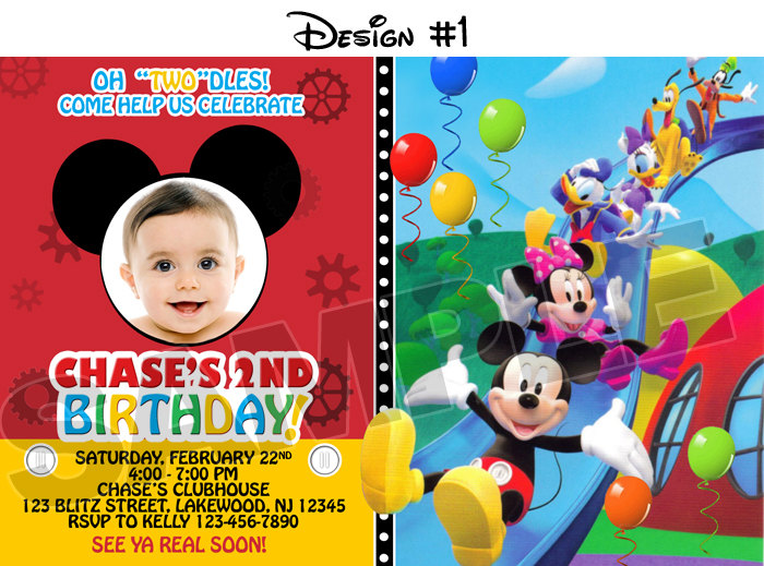 birthday invitation mickey mouse theme ; mickey-mouse-first-birthday-party-invitations-mickey-mouse-clubhouse-birthday-party-photo-invitations-printable