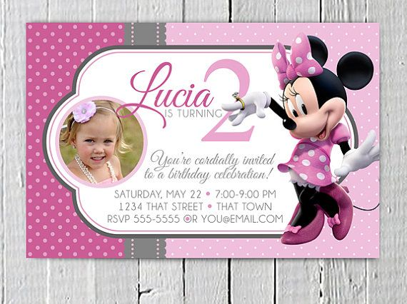 birthday invitation minnie mouse theme ; 1f49f3e80da105fae4ee3cafe6fb578a