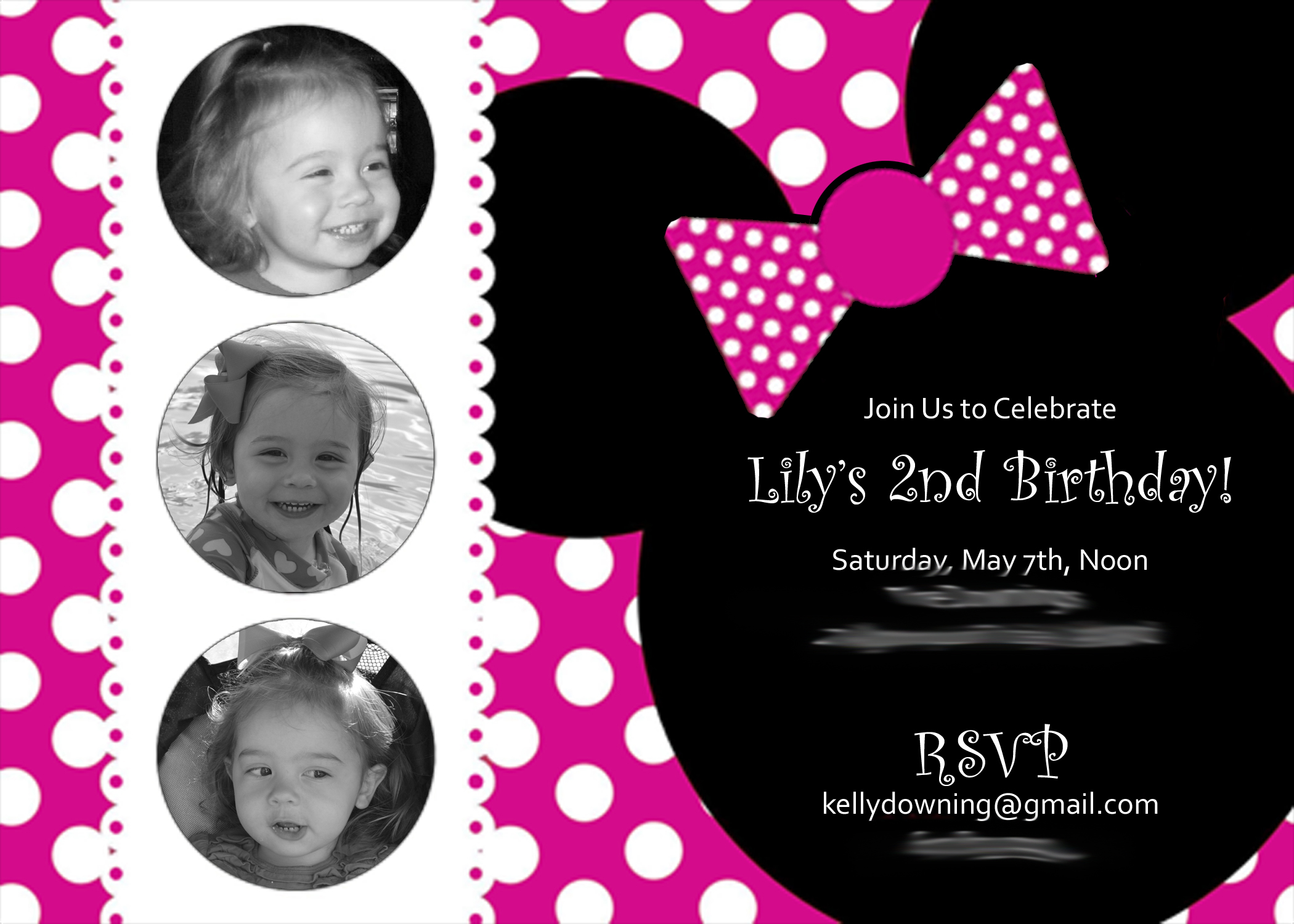 birthday invitation minnie mouse theme ; Minnie-Mouse-Birthday-Invitation-Wording-For-2Nd-Birthday-and-get-inspiration-to-create-the-birthday-Invitation-design-of-your-dreams-1